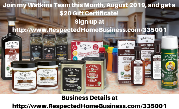 Watkins August Sign Up Special