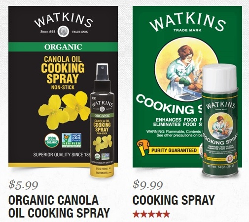 Watkins Organic Canola Cooking Spray