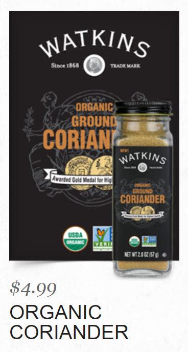 Watkins Organic Coriander