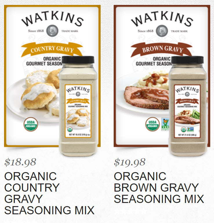 Watkins Country Gravy Mix and Brown Gravy Mix