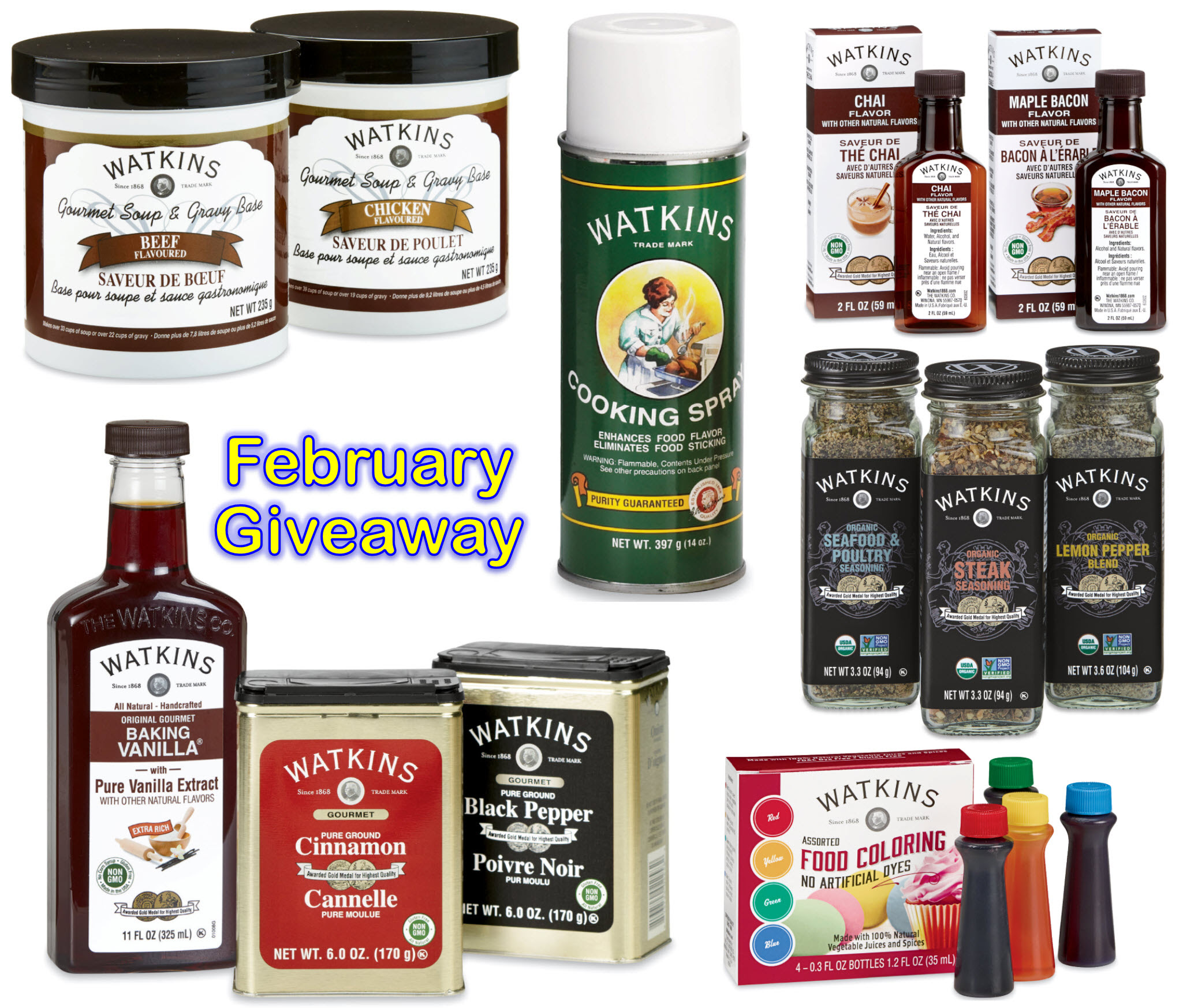 Win Free Watkins Products
