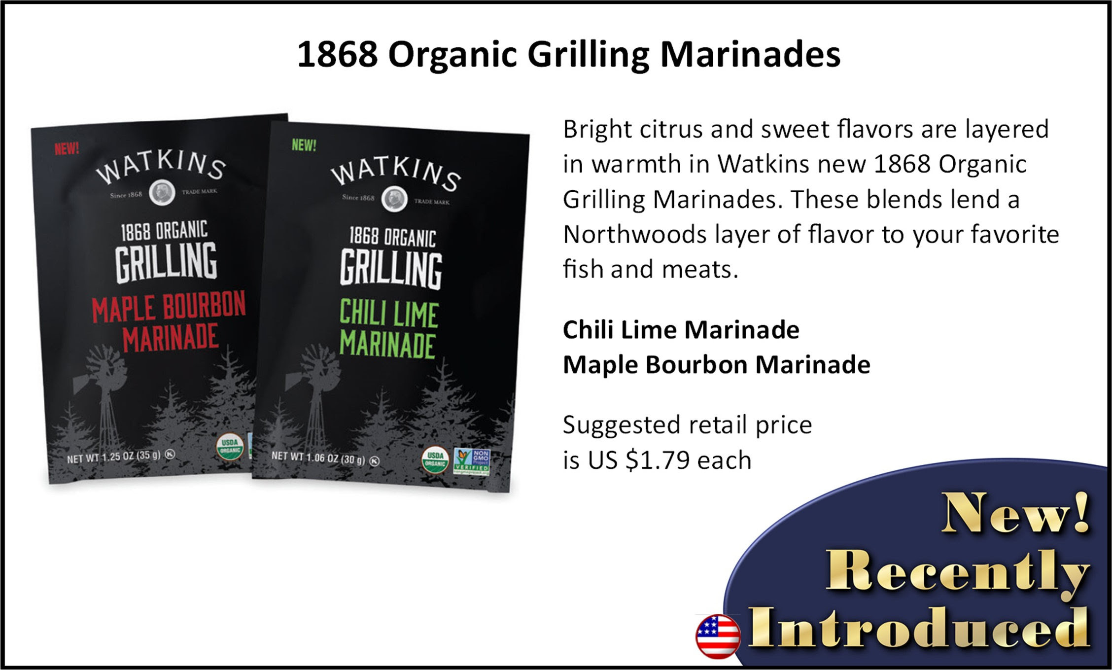 Watkins Grilling Marinades