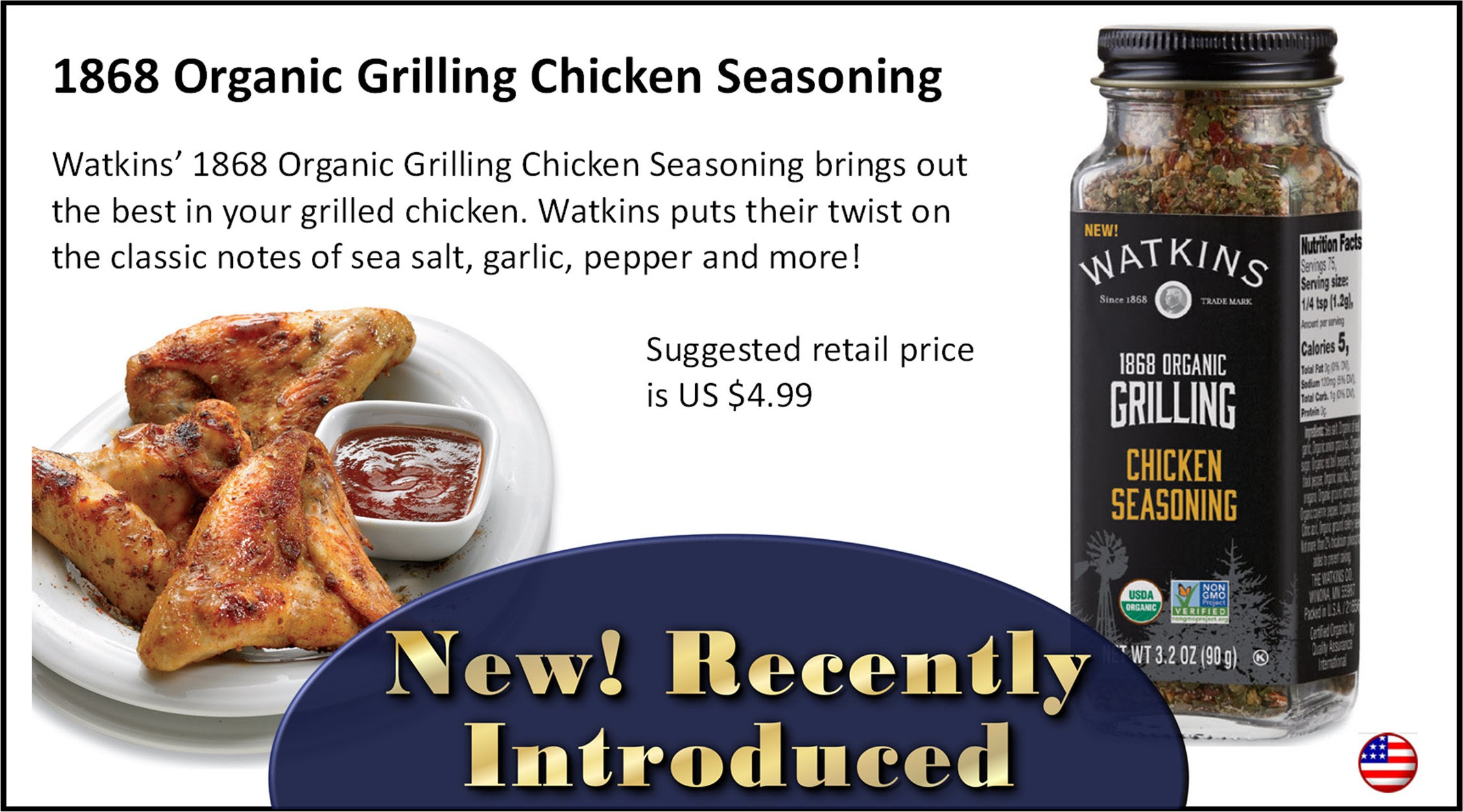 Watkins Grilling Chicken Seasoning
