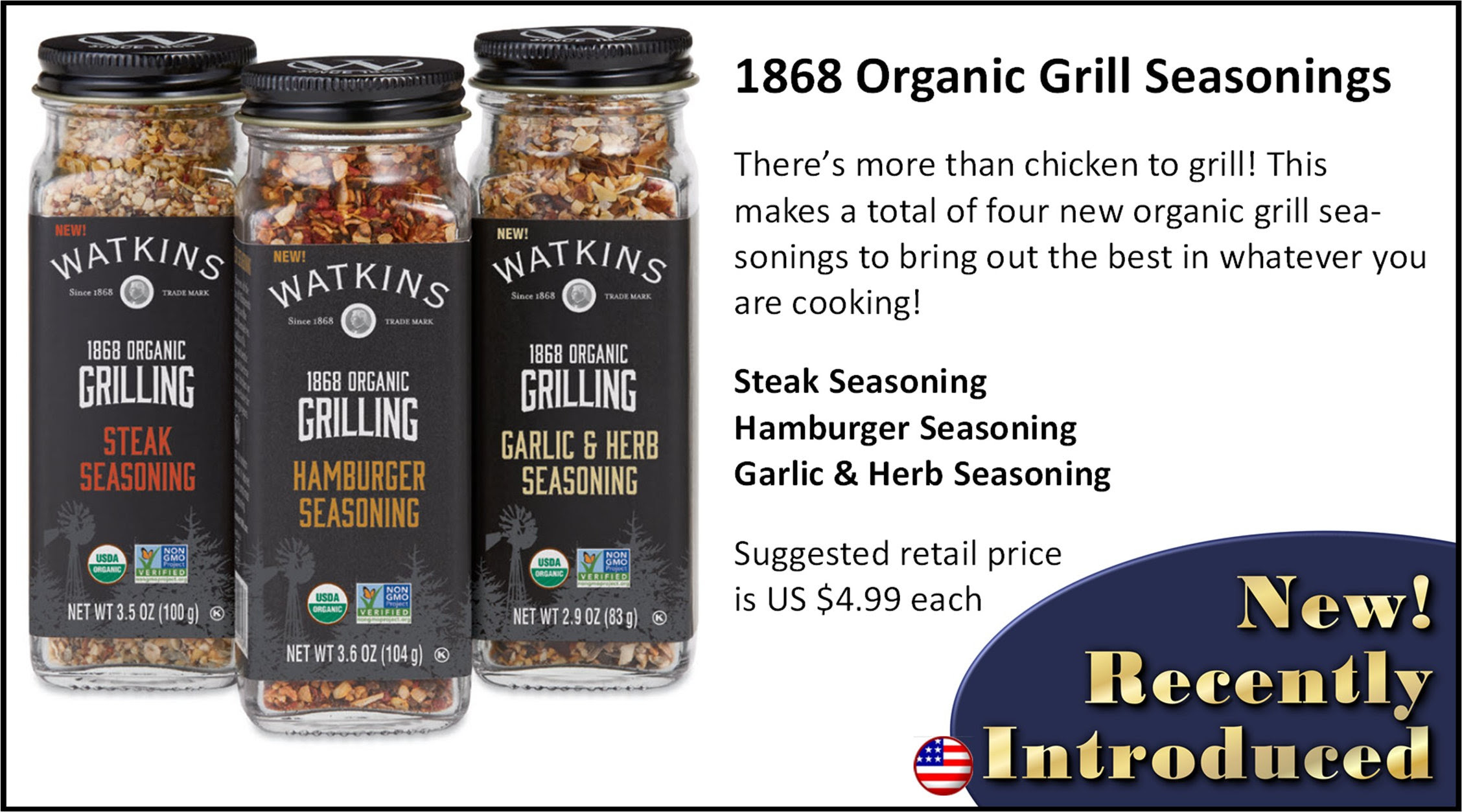 Watkins Grill Seasonings