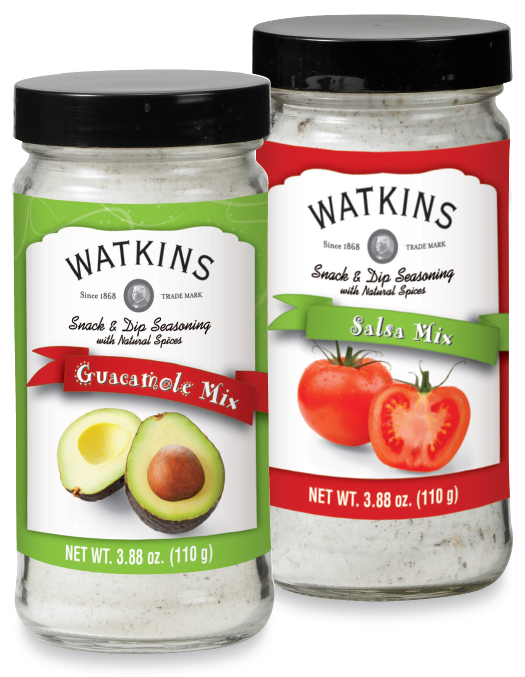 Watkins Guacamole Mix and Watkins Salsa Mix