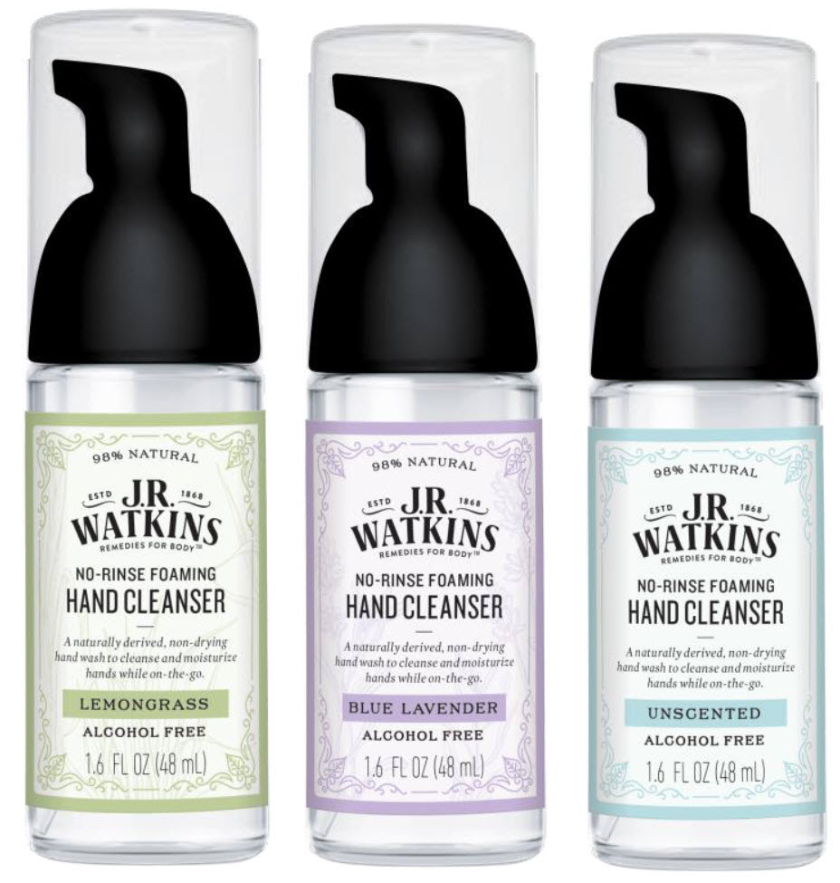 New Product - J.R. Watkins No-Rinse Foaming Hand Cleanser