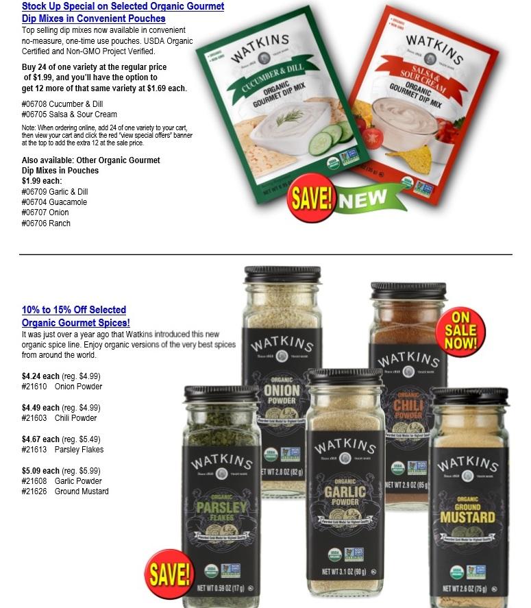 Watkins January Product Specials