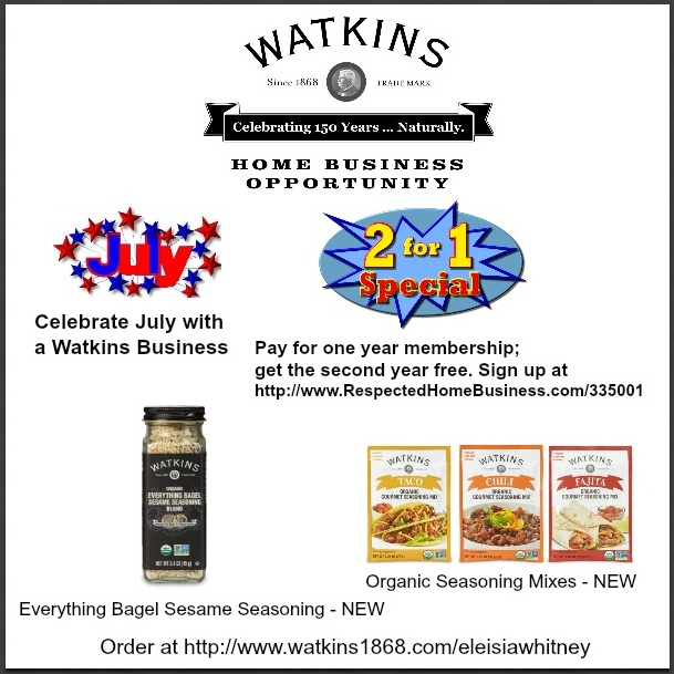 Watkins July Sign Up Incentive