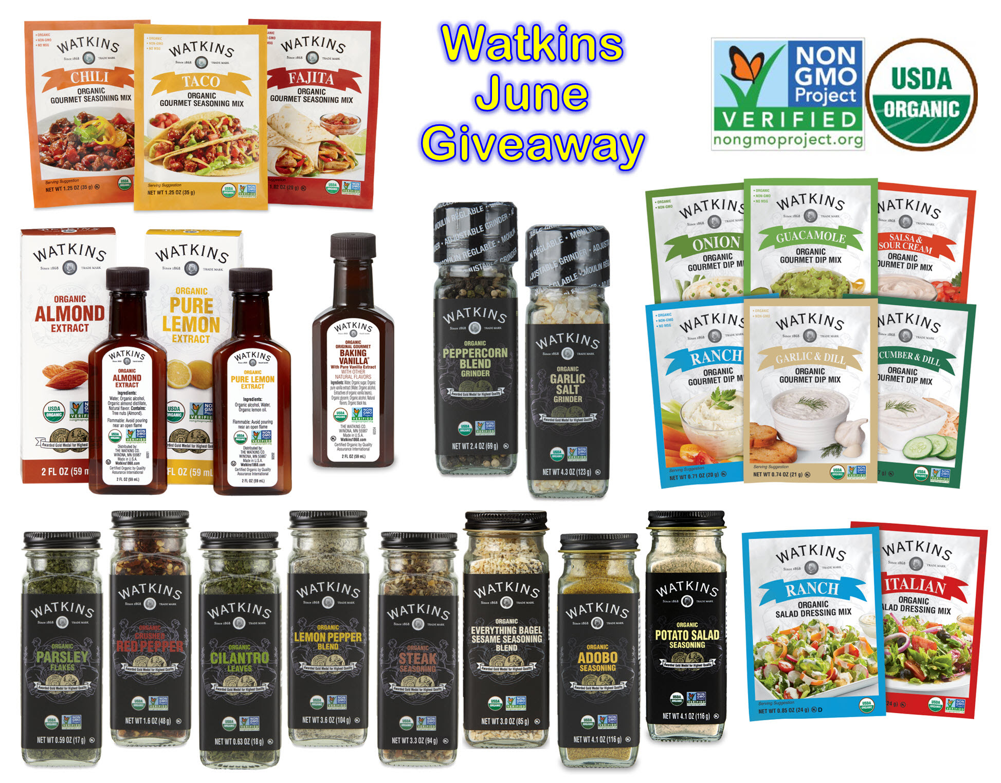 Watkins June Win Free Vanilla Assortment