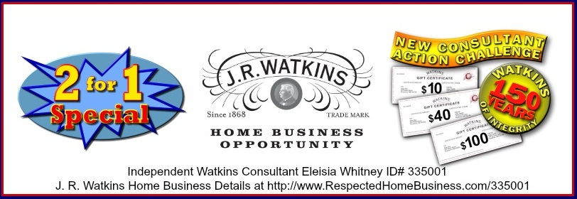 J. R. Watkins Home Business Opportunity - Two Year's Membership for the Price of One Year and New Consultant Action Challenge Extended