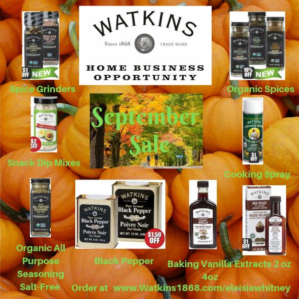 Watkins September Sales