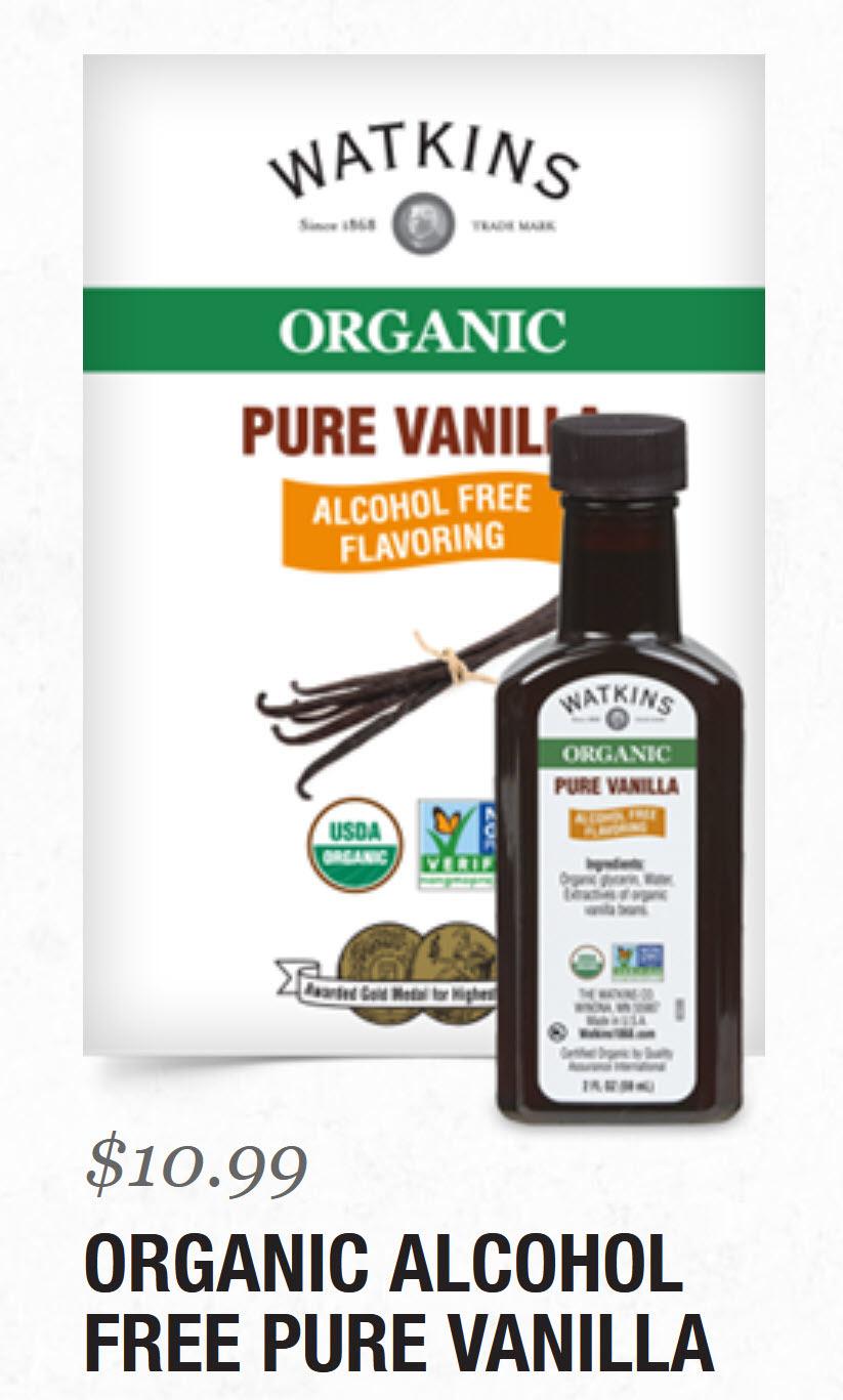 Watkins Organic Alcohol-Free Vanilla