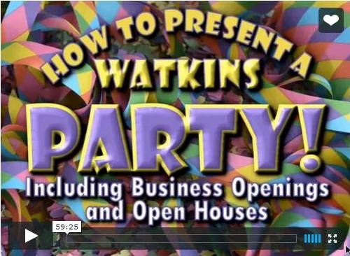 Earn by giving Watkins parties
