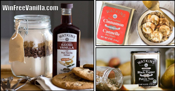 Win Free Vanilla Contest for Watkins Products