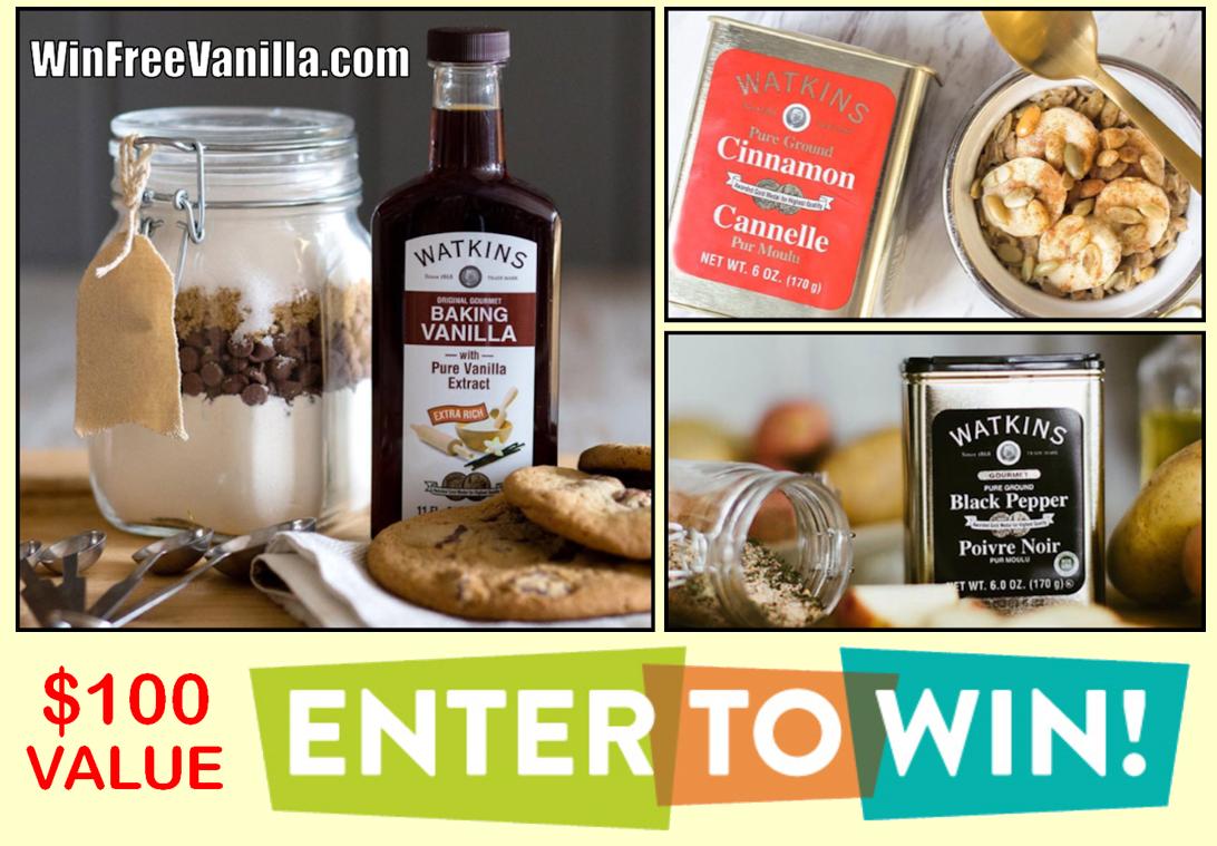 Win Free Vanilla Giveaway